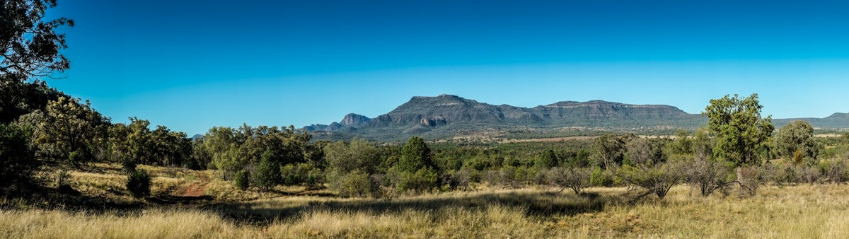 Landscapes and land forms of the warrumbungle range.